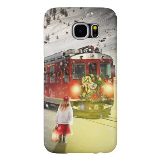 Capa Para Samsung Galaxy S6 O papai noel expresso do Pólo Norte - trem do