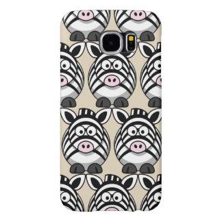 Capa Para Samsung Galaxy S6 Personalize a zebra bonito
