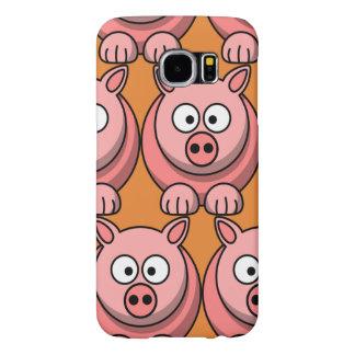 Capa Para Samsung Galaxy S6 Personalize o porco bonito para miúdos