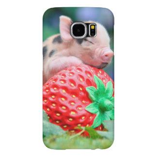 Capa Para Samsung Galaxy S6 porco da morango