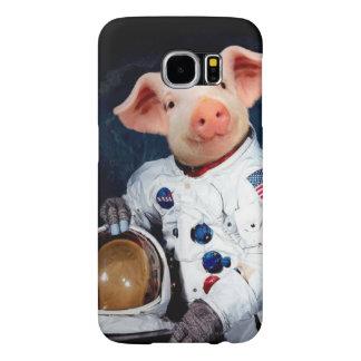 Capa Para Samsung Galaxy S6 Porco do astronauta - astronauta do espaço