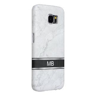 Capa Para Samsung Galaxy S6 Profissional de mármore do negócio do monograma