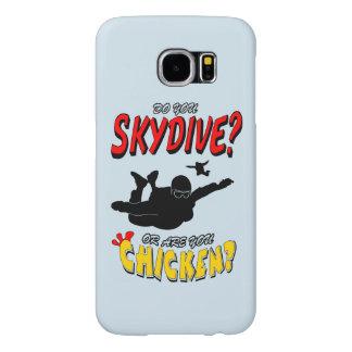Capa Para Samsung Galaxy S6 Skydive ou galinha? (preto)