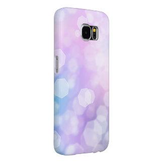 Capa Para Samsung Galaxy S6 SPARKLES do AZUL & do ROXO - caixa da galáxia de