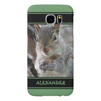 Capa Para Samsung Galaxy S6 Um esquilo bonito com o roedor da natureza da