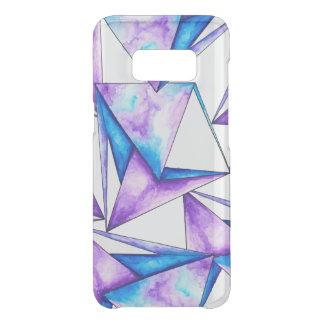 Capa Para Samsung Galaxy S8 Da Uncommon Triângulos roxos azuis geométricos legal da