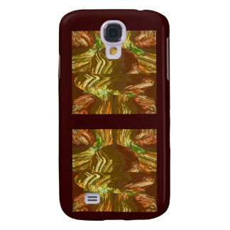 Capa Samsung Galaxy S4 Arte gráfica de cristal dourada