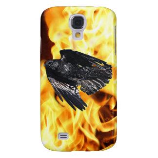 Capa Samsung Galaxy S4 Design preto de voo 7 da foto do corvo & das