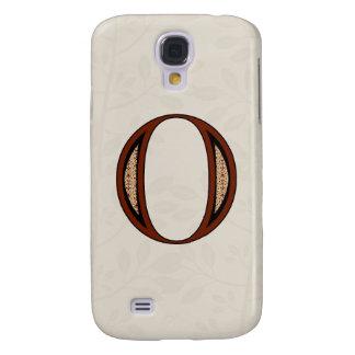 Capa Samsung Galaxy S4 Letra O do damasco - vermelho