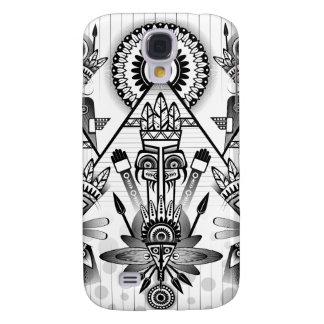 Capa Samsung Galaxy S4 Tribal indiano nativo antigo abstrato