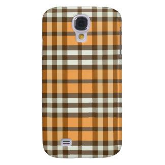 Capa Samsung Galaxy S4 Xadrez Pern da laranja/chocolate