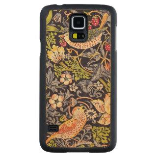 Capa Slim De Bordo Para Galaxy S5 Arte floral Nouveau do ladrão da morango de
