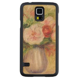 Capa Slim De Bordo Para Galaxy S5 Pierre um vaso de Renoir   das flores