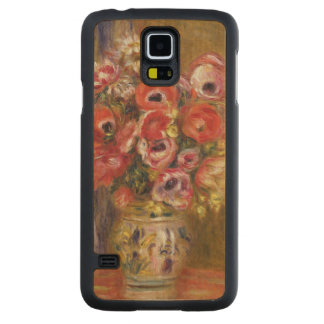 Capa Slim De Bordo Para Galaxy S5 Pierre um vaso de Renoir   das tulipas e das
