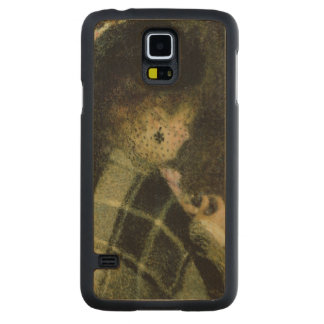 Capa Slim De Bordo Para Galaxy S5 Pierre uma jovem mulher de Renoir   com um véu