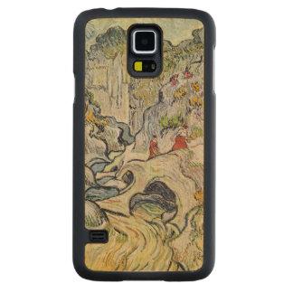 Capa Slim De Bordo Para Galaxy S5 Vincent van Gogh   a ravina do Peyroulets