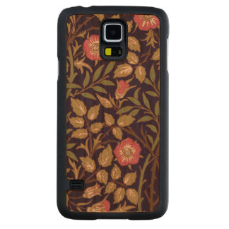 Capa Slim De Cerejeira Para Galaxy S5 Arte floral Nouveau do Briar doce de William