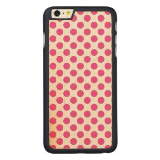 Capa Slim Para iPhone 6 Plus De Bordo, Carved Bolinhas cor-de-rosa
