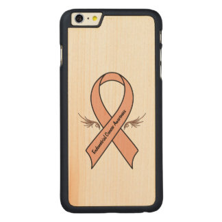 Capa Slim Para iPhone 6 Plus De Bordo, Carved Consciência do cancer Endometrial