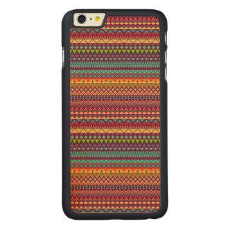 Capa Slim Para iPhone 6 Plus De Bordo, Carved Design abstrato listrado tribal do teste padrão