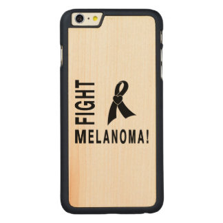 Capa Slim Para iPhone 6 Plus De Bordo, Carved Melanoma da luta