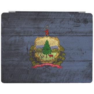 Capa Smart Para iPad Bandeira do estado de Vermont na grão de madeira