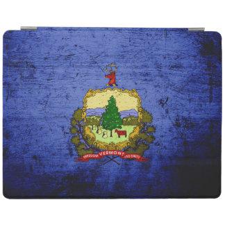 Capa Smart Para iPad Bandeira preta do estado de Vermont do Grunge