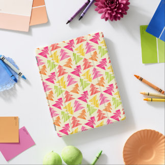Capa Smart Para iPad Teste padrão esboçado colorido das árvores de