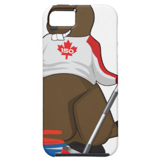 Capa Tough Para iPhone 5 Cano principal de ondulação do castor de Canadá