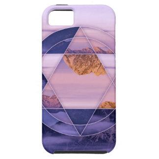 Capa Tough Para iPhone 5 Caso abstrato da paisagem da montanha