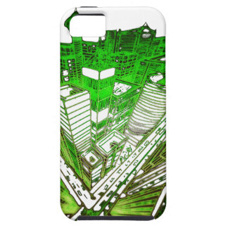 Capa Tough Para iPhone 5 city em 3 point version perspective special green