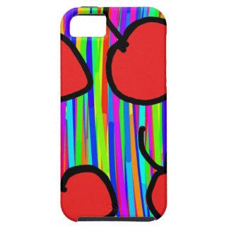 Capa Tough Para iPhone 5 estilo da cor da cereja