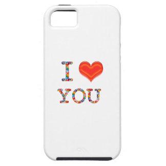 Capa Tough Para iPhone 5 EU TE AMO: Roteiro elegante do PRESENTE do romance