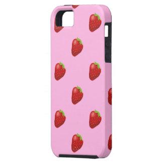 Capa Tough Para iPhone 5 impressão do iphone 5 do teste padrão da morango