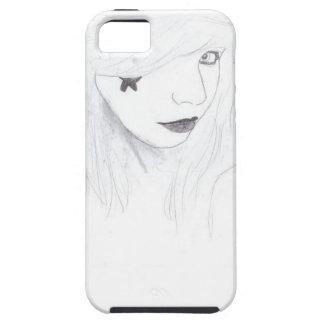 Capa Tough Para iPhone 5 rock and roll girl