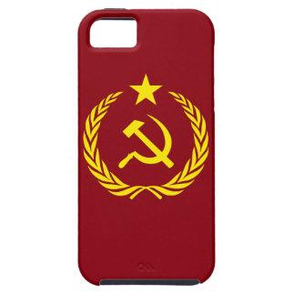 Capa Tough Para iPhone 5 SE do iPhone+bandeira do comunista da guerra fria
