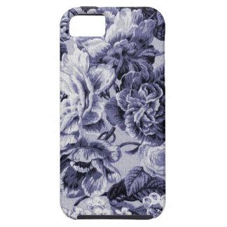 Capa Tough Para iPhone 5 Tecido floral No.1 de Toile do vintage do Mulberry