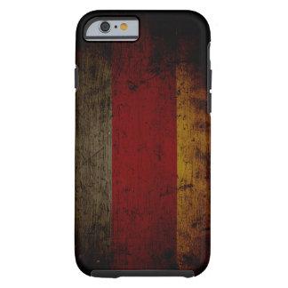 Capa Tough Para iPhone 6 Bandeira preta 2 de Alemanha do Grunge