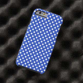 Capa Tough Para iPhone 6 Bolinhas da combinação dos azuis marinhos por