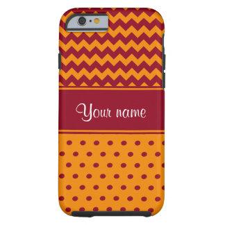 Capa Tough Para iPhone 6 Bolinhas na moda da tangerina das vigas de