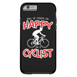 Capa Tough Para iPhone 6 Ciclista feliz (branco)