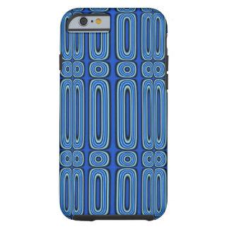 Capa Tough Para iPhone 6 Círculo na moda azul