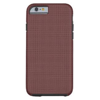 Capa Tough Para iPhone 6 círculo preto e vermelho