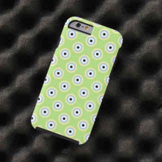 Capa Tough Para iPhone 6 Círculos verdes da combinação por Shirley Taylor