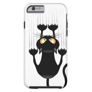 Capa Tough Para iPhone 6 Desenhos animados engraçados do gato preto que
