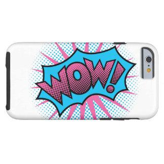 Capa Tough Para iPhone 6 Design de texto do wow
