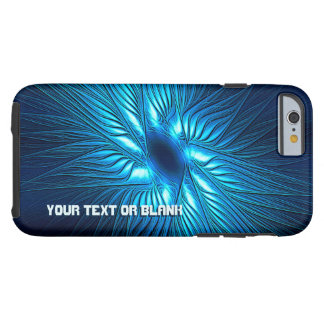 Capa Tough Para iPhone 6 Estrela azul cinzelada