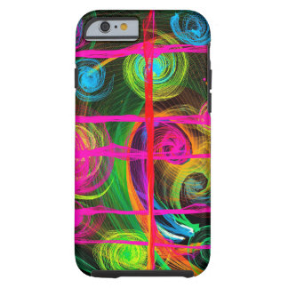 Capa Tough Para iPhone 6 Fluxo de néon