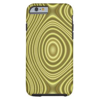 Capa Tough Para iPhone 6 Linha amarela moderna teste padrão