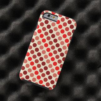 Capa Tough Para iPhone 6 Máscaras de bolinhas vermelhas por Shirley Taylor